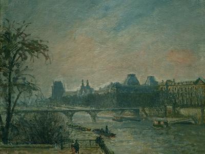 La Seine et le Louvre, 1903 Paris: Seine river and Louvre Palace. Canvas 46 x 55 cm R. F. 1972-32.