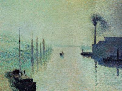 Lacroix Island, Rouen, Fog, 1888