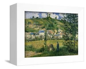 Landscape at Chaponval, 1880 by Camille Pissarro