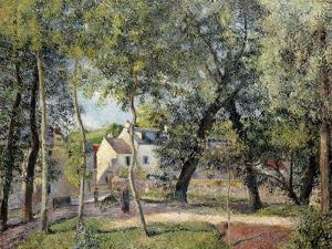 Landscape at Osny Near the Drinking Trough, 1883 by Camille Pissarro