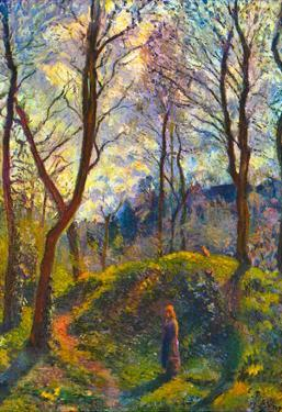 Camille Pissarro Landscape with Big Trees Art Print Poster