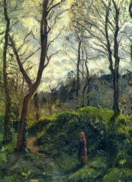 Landscape with Big Trees by Camille Pissarro