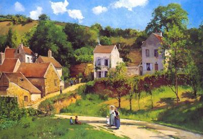 Camille Pissarro Le Hermitage at Pontoise Art Print Poster