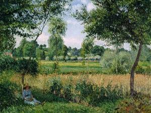 Morning Sunlight Effect, Eragny, 1899 by Camille Pissarro