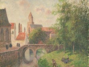 Old Bridge, Bruges by Camille Pissarro