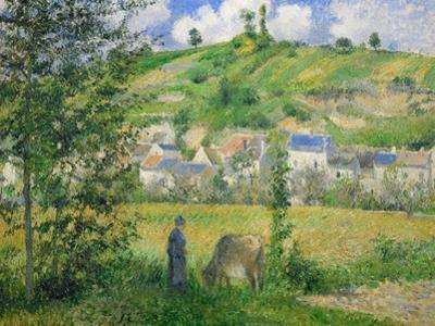 Paysage a Chaponvalle. Oil on canvas (1880) 54.5 x 65 cm R.F. 1937-51. by Camille Pissarro