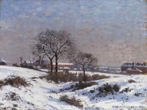 Paysage sous la Neige, Upper Norwood, 1871 by Camille Pissarro