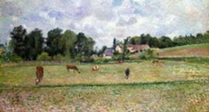 Pissarro: Cow Pasture by Camille Pissarro