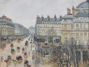 Place Du Théâtre Français, Paris: Rain, 1898 by Camille Pissarro