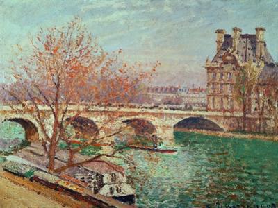 Pont Royal and the Pavillon de Flore, 1903. by Camille Pissarro