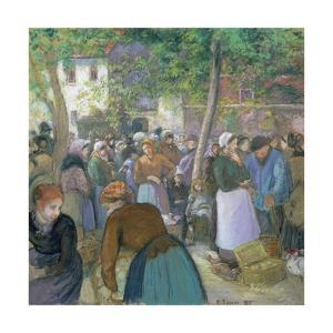 Poultry Market at Gisors by Camille Pissarro