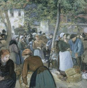 Poultry Market, Gisors by Camille Pissarro