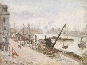 Quayside at Le Havre, 1903 by Camille Pissarro