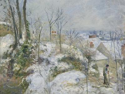 Rabbit Warren at Pontoise, Snow, 1879 by Camille Pissarro