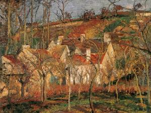 Red Roofs, Corner of a Village, Winter by Camille Pissarro