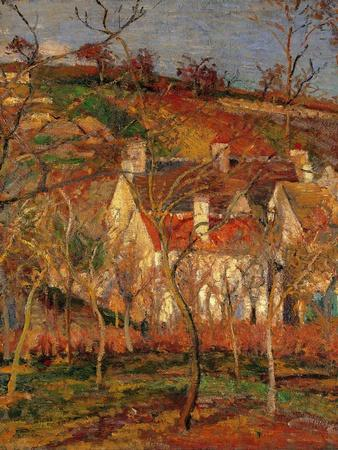 Red Roofs, Corner of a Village, Winter