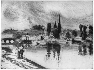 Rouen, Cours La Reine, C1850-1900 by Camille Pissarro