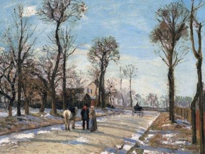 Route De Versailles, Louveciennes, Winter Sun and Snow, C. 1870
