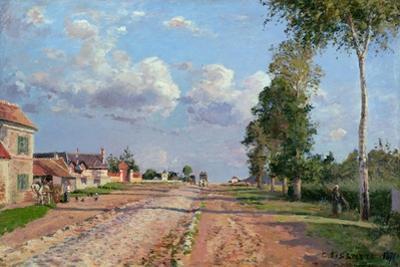 Route De Versailles, Rocquencourt, 1871 by Camille Pissarro