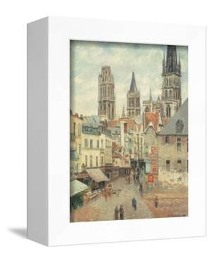 Rue De L'Epicerie at Rouen, on a Grey Morning, 1898 by Camille Pissarro