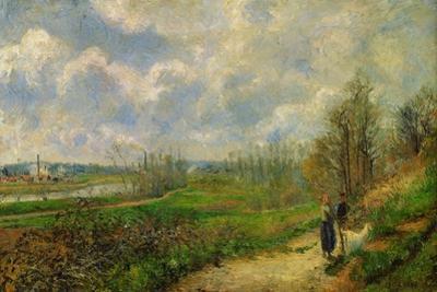 Serre du chou, pres de Pontoise (The cabbage garden near Pontoise), 1878 . by Camille Pissarro