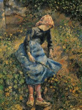 Shepherdess (Girl with a Stick) by Camille Pissarro