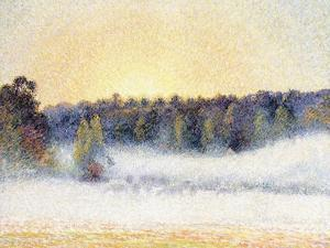 Sunset and Mist at Eragny, 1891 by Camille Pissarro