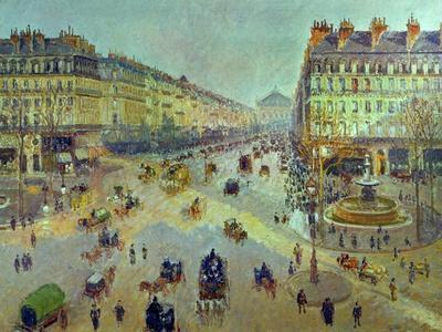 The Avenue De L'Opera, Sunlight, Winter Morning, Around 1880