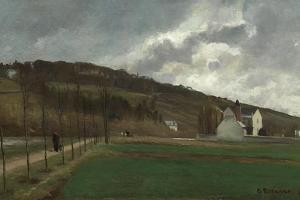 The Banks of the Marne in Winter, 1866 by Camille Pissarro