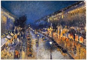 Camille Pissarro The Boulevard Montmartre Art Print Poster