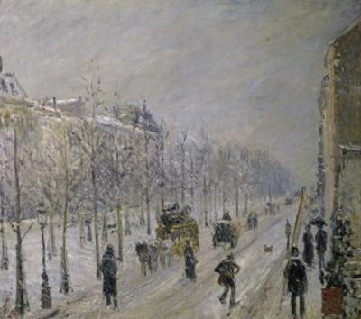 The Effect of Snow on the Boulevard's Appearance by Camille Pissarro