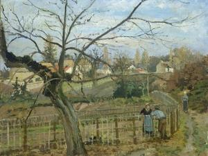 The Fence, 1872 by Camille Pissarro