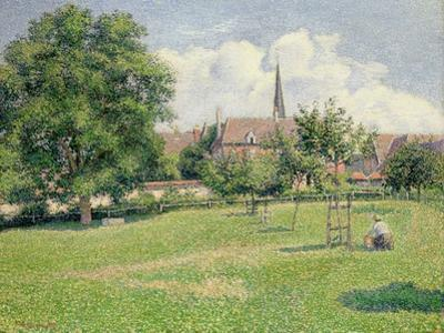 The House of the Deaf Woman and the Belfry at Eragny, 1886