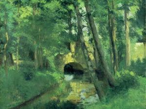 The Little Bridge, Pontoise, 1875 by Camille Pissarro