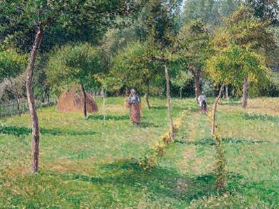 The Orchard at Éragny, 1896 by Camille Pissarro