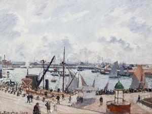 The Outer Harbour of Le Havre, Morning Sun by Camille Pissarro