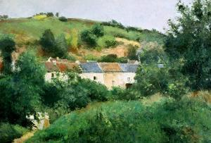 The Path in the Village, 1875 by Camille Pissarro