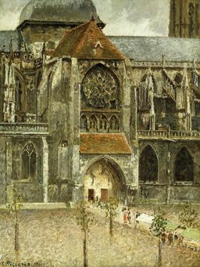 The Portal of the Church Saint-Jacques at Dieppe; Portail de l'Eglise Saint-Jacques a Dieppe, 1901 by Camille Pissarro