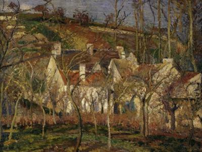 The Red Roofs, c.1877 by Camille Pissarro