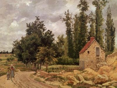 The Road to Osny, 1872 by Camille Pissarro