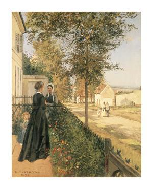 The Road to Versailles by Camille Pissarro