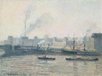 The Saint-Sever Bridge, Rouen: Mist, 1896 by Camille Pissarro