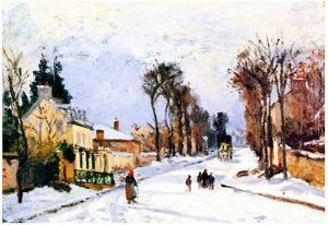 Camille Pissarro The Versailles Road Art Print Poster
