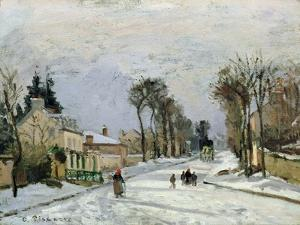 The Versailles Road at Louveciennes, 1869 by Camille Pissarro