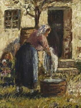 The Washerwoman; La Laveuse, C.1898 by Camille Pissarro