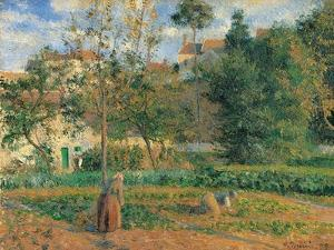 Vegetable Garden at the Hermitage, Pontoise by Camille Pissarro