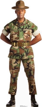 Camo Military Man Lifesize Standup