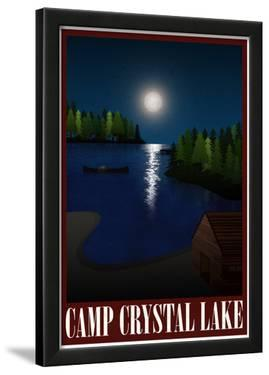 Camp Crystal Lake Retro Travel Poster