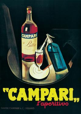 Campari - Vintage Style Advertisement Poster