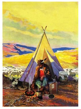 """Camping Near Sheep,""October 1, 1940"